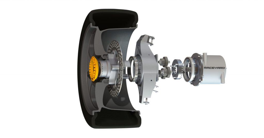 Radbaugruppe mit Getriebe